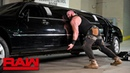 Furious Braun Strowman pushes over Mr McMahon's limousine Raw Jan 14 2019
