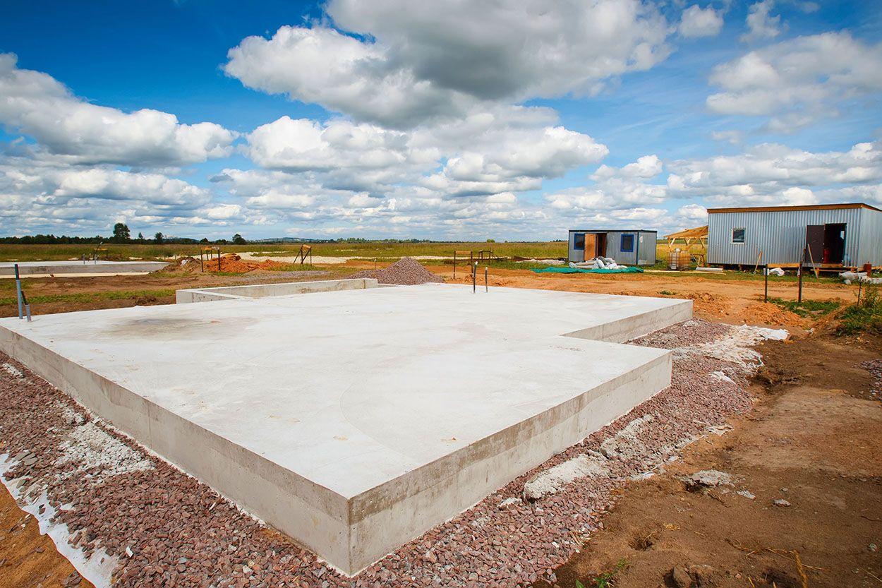 строительство фундаментной плиты