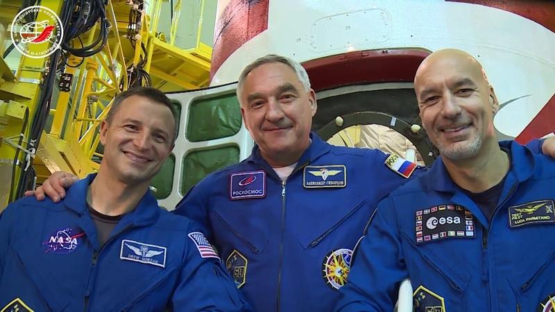 Контрольная «примерка» космического корабля «Союз МС-13»