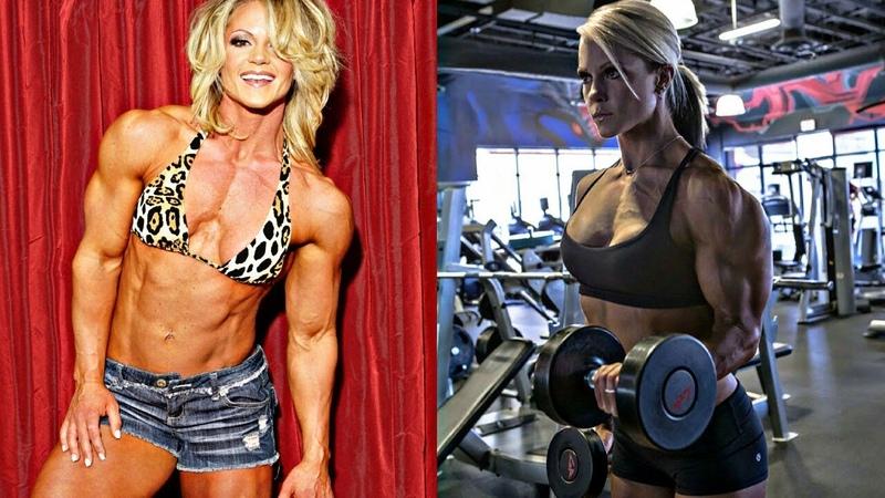 Beast Nicole Wilkins Arm Flexing   IFBB Figure Olympia   Biceps Workout 2018