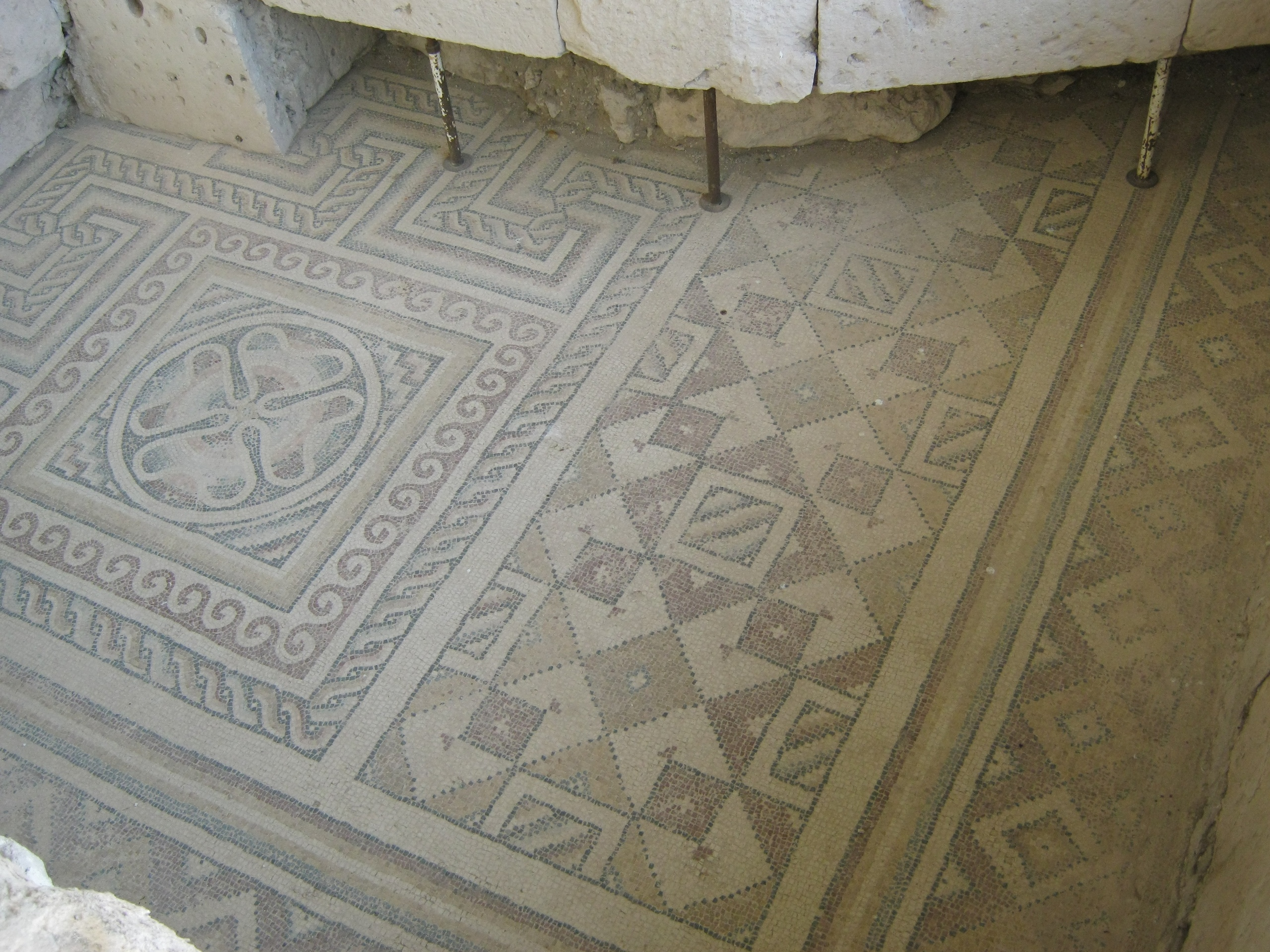 Древняя мозаика в Собессос (Sobessos) около Шахинэфенди