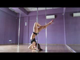 Первая,тренировка, пол-дэнс, видео, новичков, в студии танца на пилоне,sky pole, ,связка