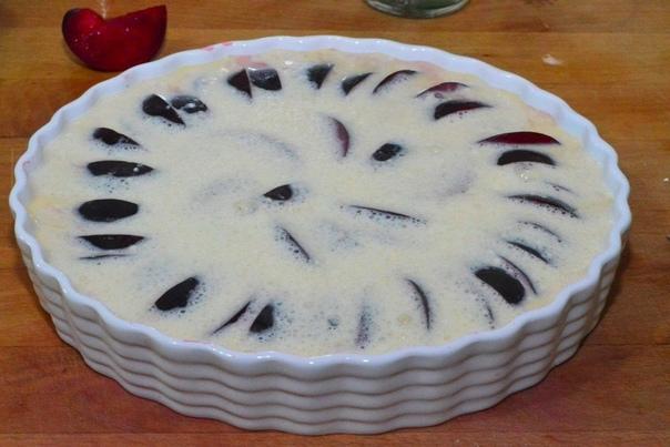 Клафути со сливами. Вкусный десерт!