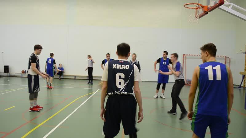 Встреча 9 и 10 классов - баскетбол у юношей (19.03.2019)
