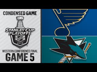 St. Louis Blues vs San Jose Sharks WCF, Gm5 may 19, 2019 HIGHLIGHTS HD