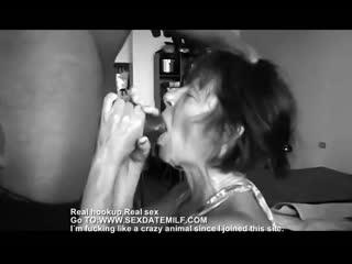 68 yr old granny sucking off black cock(порно,секс,русское,частное,домашнее,porno,минет,студентка,кончил,анал,blowjob)