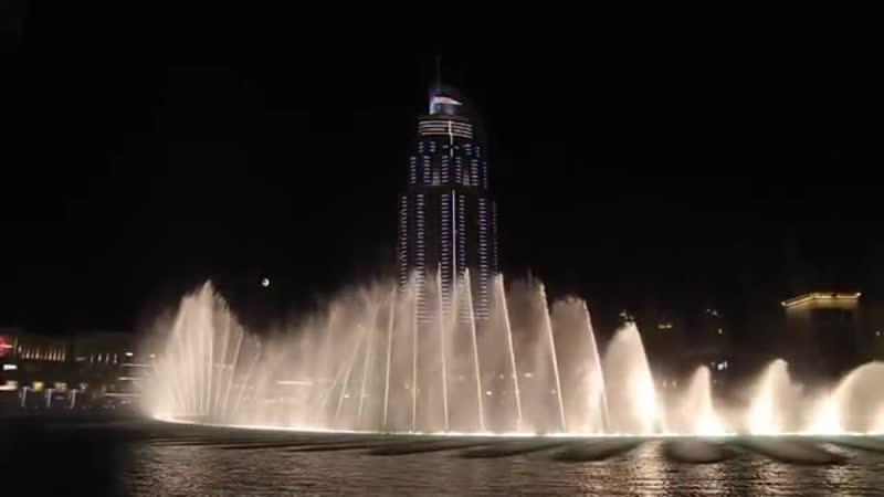 Музыкальный фонтан Дубай ОАЭ Dubai Fountain 360P mp4