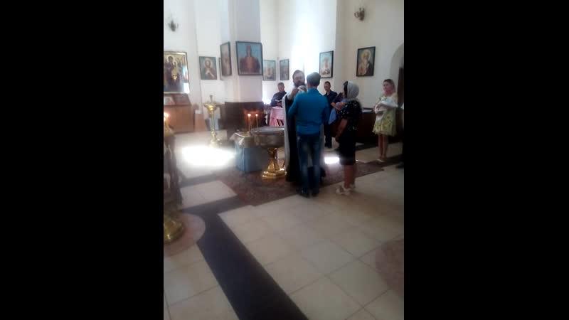 крестины Виолетты и Кирилла