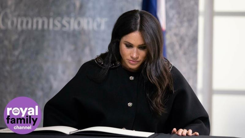 Герцог и герцогиня Сассекские почтили память жертв теракта в посольстве Новой Зеландии