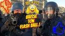 COMMENT LA POLICE ME VISE AU FLASH BALL🎯 ET SE PREND UN PAVÉ SUR LE CASQUE🤪GILETS JAUNES✊