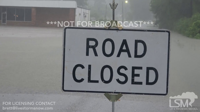 7-16-2019 Murfreesboro, Ar Delight, Ar Flash flood emergency, roads and homes flooded I-30 closed