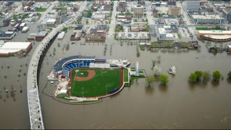 Flooding From Michigan to The South Sends Mississippi River to 157-Year-High In Davenport, Iowa