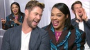 Chris Hemsworth Tessa Thompson being cute together for 5 minutes straight | PopBuzz Meets