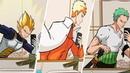 Deja vu tiktok meme w Vegeta not Goku Naruto and Zoro
