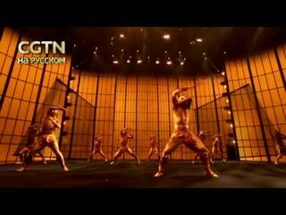 """Шаолиньское кунг-фу на сцене телешоу """"the world's best"""" американского канала cbs."""