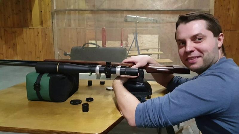 Решение задачи про упражнение БМП (снайпинг) - баллистика при наклоне винтовки на 90 градусов.