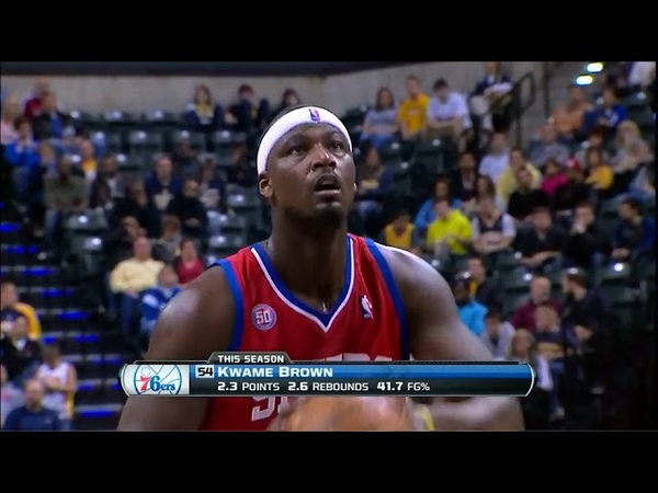 Kwame Brown And His Strong Game As a Sixer. Limited Minutes - Still Playing Very Active.(14.12.2012)