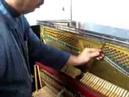 Cale de carton pour cheville molle piano Loose tuning pins (piano) - Tightening. Part 6.