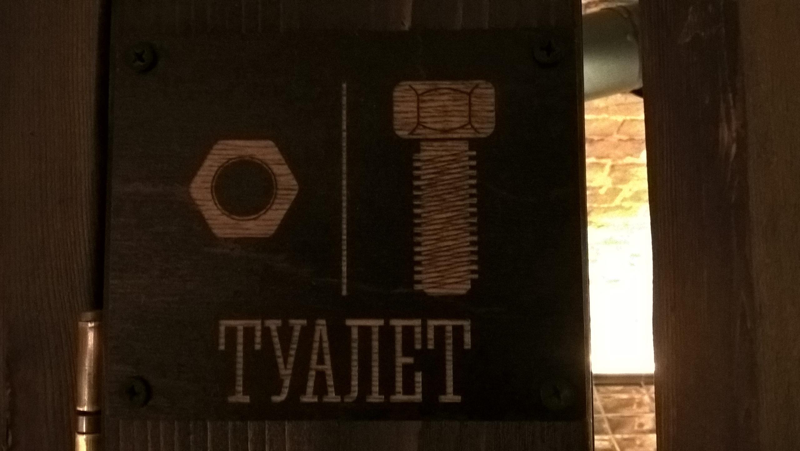 опознавательные знаки помогут посетителям выбрать правильное направление в туалете