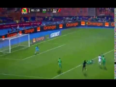 هدف بونجاح الاول ضد السنيغال*الجزائر1-0 السن