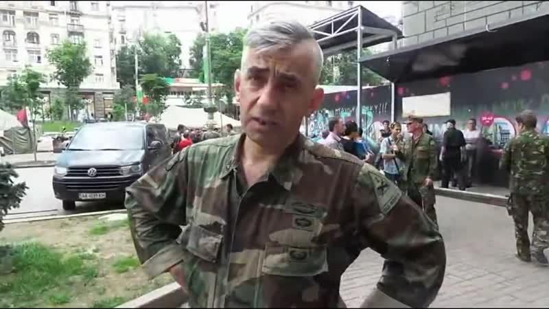 Киев Зачистка КГГА от майдановцев 7 июня 2014