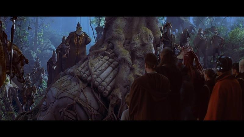 Набу Разговор Квай Гона и Оби Вана Переговоры с гунганами HD