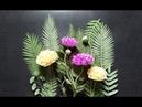 Hướng dẫn làm hoa mẫu đơn từ giấy nhún - How to make peony crepe paper flower - MS07