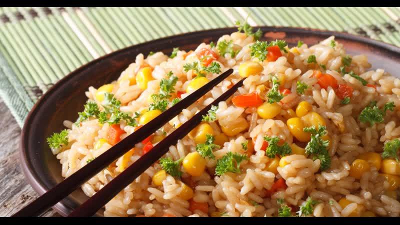 Чесночный рис Японская кухня