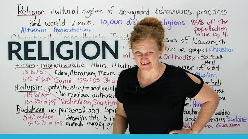 Culture Vocabulary Major religions of the world