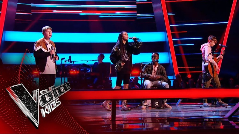 Jamie, T'Mya and David Ammani Perform 'No Tears Left To Cry' | The Battles | The Voice Kids 2019