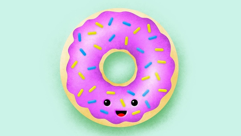 Donut Illustration with Grainy Shading Photoshop Tutorial