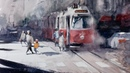 Watercolor - Speed painting - Vienna Cityscape - Timelapse