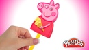 Пластилин Плей До Мороженое. Свинка Пеппа из пластилина Play Doh