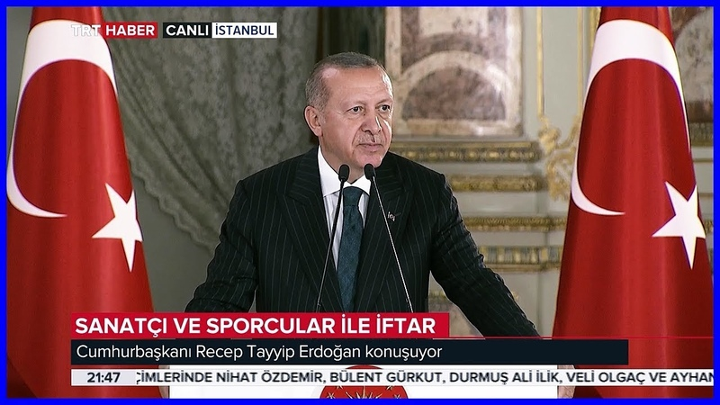 Cumhurbaşkanı Erdoğanın Sanatçı ve Sporcular ile iftar Programında Konuşması 25.05.2019