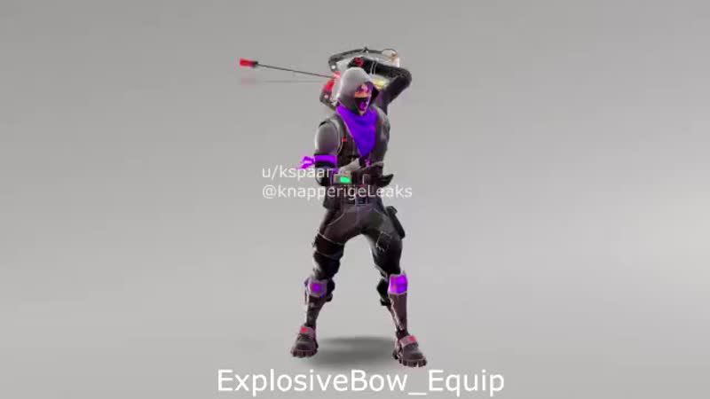 Almost all animations for the Explosive Bow Some sadly wouldnt