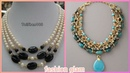Beautiful pearls stones native American necklace styles