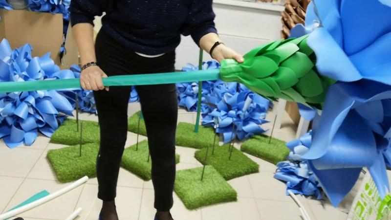 Термоусадочная труба чудо в декоре стеблей
