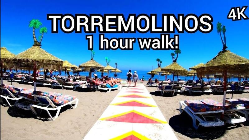 ⁴ᴷ TORREMOLINOS walking tour, Malaga, Andalusia, Spain 🇪🇸