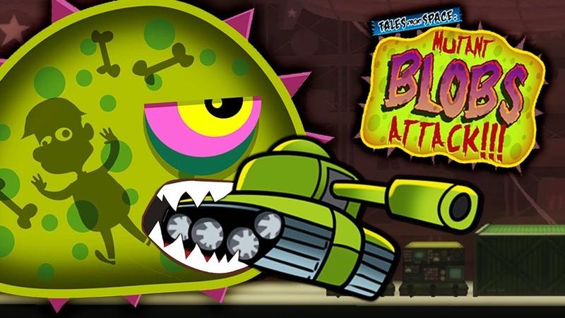 ХИЩНЫЙ СЛИЗЕНЬ ест ТАНКИ НА ВОЕННОЙ БАЗЕ Мульт игра про ГОЛОДНОГО СЛИЗНЯ МУТАНТА Mutant Blobs Attack