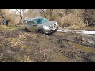 Что может lexus lx против jeep wrangler, toyota prado и fj cruiser на бездорожье