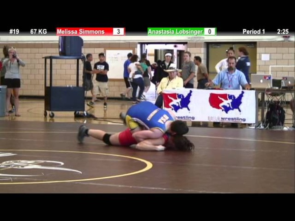 WM 67 KG Melissa Simmons (OKCU Gator) vs Anastasia Lobsinger (CYC)