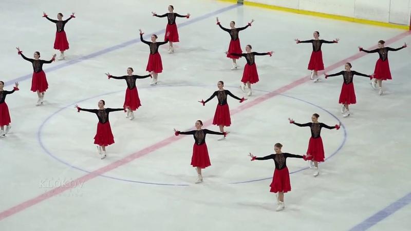 Команда ЮНОСТЬ Екатеринбург.Синхронное фигурное катание на коньках. 2018