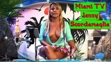 красивая ведущая майами тв Дженни Скордамаглия beautiful host of the Miami TV Jenny Scordamaglia