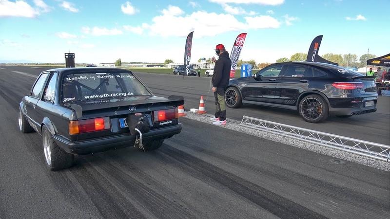 950HP GAD MOTORS Mercedes AMG GLC63s vs 820HP BMW E30 325i Turbo