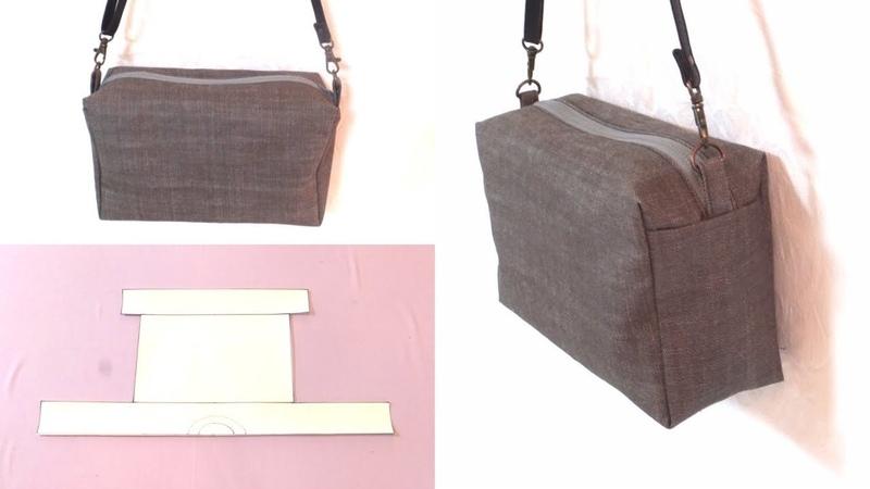 ボックスポーチをアレンジして、ショルダーバッグを作りました。 Box shoulder b