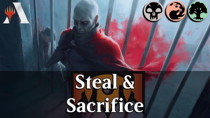MTG Arena RNA | Jund Sacrifice Other People's Property DeckTech Gameplay [Malak]