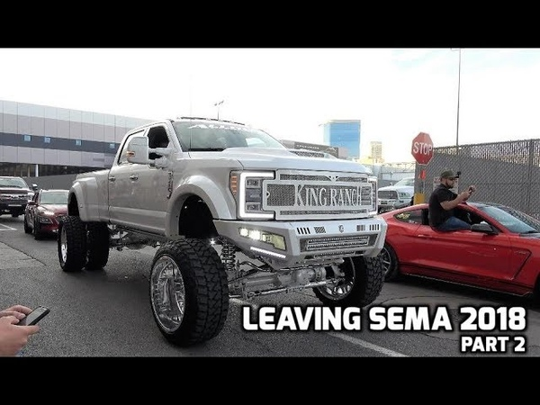 Leaving SEMA 2018 Part 2 15 Min of vehicles