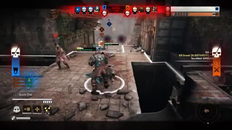 Смерть дышала ему в спину, но... (For Honor)