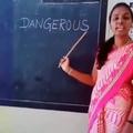 Indian Teacher pronounces