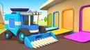 Vehículos de servicio recogen la cosecha Dibujos para niños Caricaturas de coches